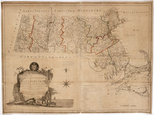 Map of the commonwealth of Massachusetts exclusive of the district of Maine