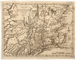 An Exact map of New England, New York, Pensylvania & New Jersey,