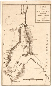 A Map of the country between Crown Point and Ford Edward