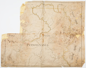 [Map of parts of Pennsylvania, New York and New Jersey]