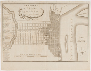 Stephens plan of the city of Philadelphia