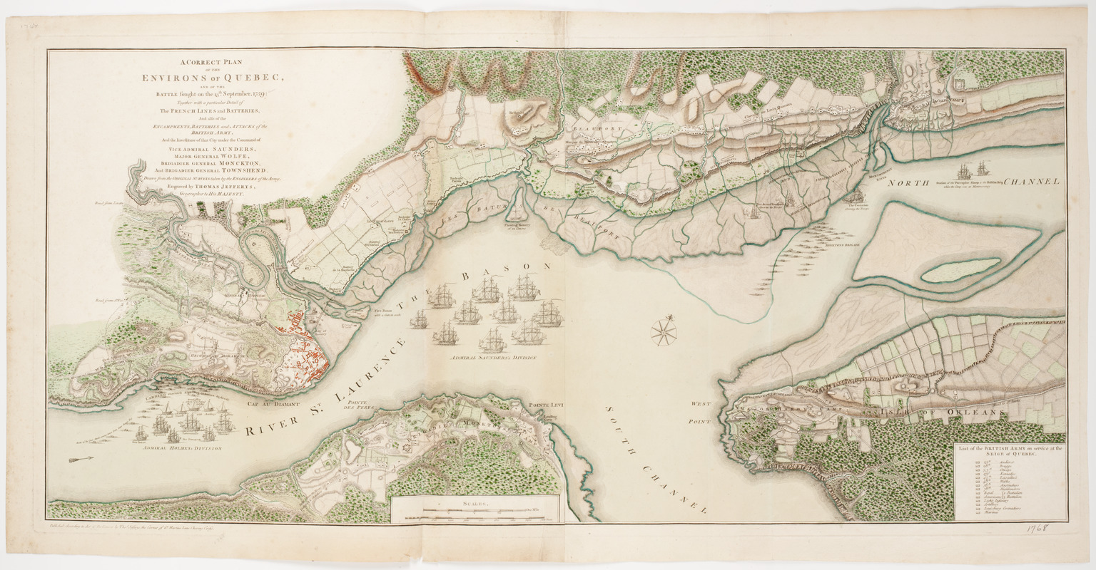 A Correct plan of the environs of Quebec,