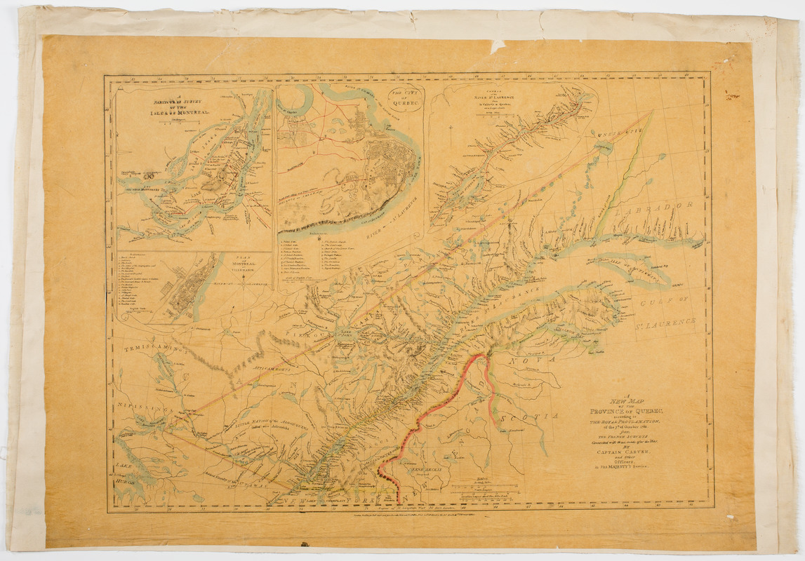 A new map of the province of Quebec,