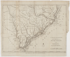 A New and accurate map of the chief parts of South Carolina, and Georgia