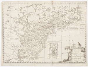A Map of the British dominions in North America as settled by the late treaty of Peace 1763