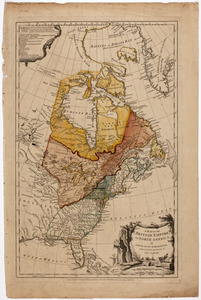 A map of the British empire, in North America
