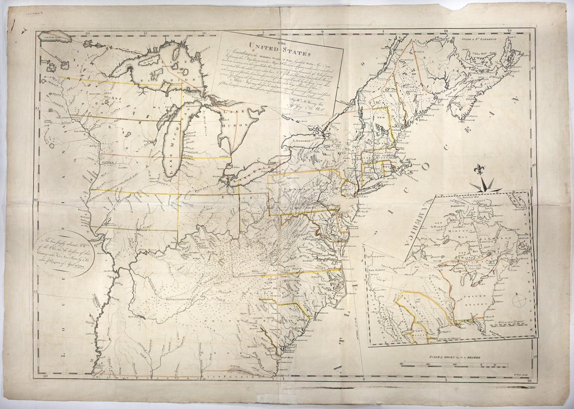 Treaty Of Paris Map 1783.The United States According To The Definitive Treaty Of Peace Signed
