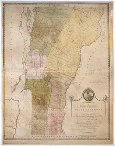 A topographical map of the state of Vermont,
