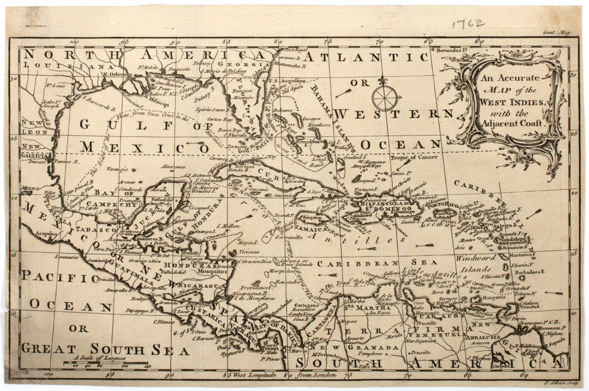 An Accurate map of the West Indies, with the adjacent coast