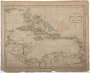 An Accurate map of the West Indies with the adjacent coast of America. 1796