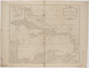 A new map of the West Indian islands;