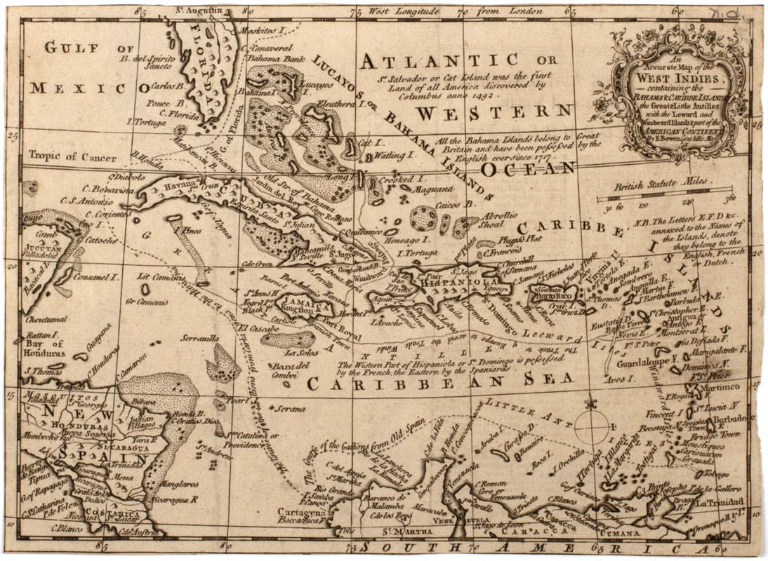 An accurate map of the West Indies,