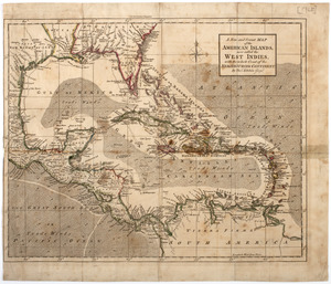 A new and correct map of the American islands, now called the West Indies,