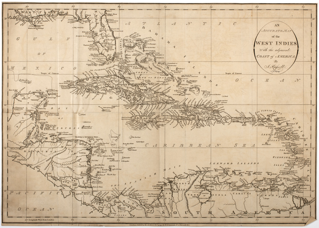 An accurate map of the West Indies with the adjacent coast of America