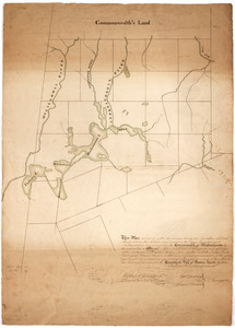 This plan represents within the red lines twenty two townships of land situate between the million acres located on the River Kennebeck and Newhampshire line