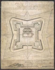 Plan of York Fort erected at Chateaux bay on the Coast of Labradore 1766