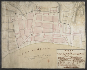 A PLAN of the City of ALBANY Shewing the Several works and Buildings made there in the Year 1756 & 57