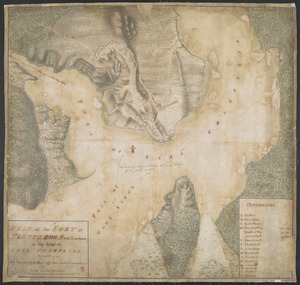 PLAN of the FORT in TIENDEROGA and Environs at the head of LAKE CHAMPLAIN November 1759