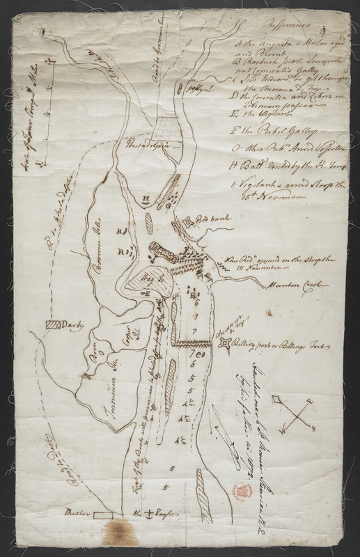 [Map showing operations against Philadelphia by the British in November 1777]