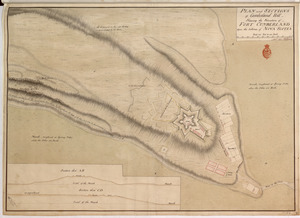 PLAN and SECTIONS of Cumberland Hill Showing the Situation of FORT CUMBERLAND Upon the Isthmus of NOVA SCOTIA