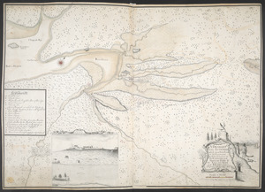 A DRAUGHT of the ISTHMUS which joyns Nova Scotia to the Continent with the Situation of the ENGLISH and FRENCH FORTS & the Adjacent BAYS and RIVERS