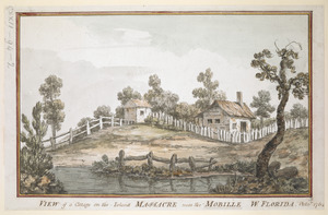 VIEW of a Cottage on the Island MASSACRE near the MOBILLE W. FLORIDA. Oct.r 1764