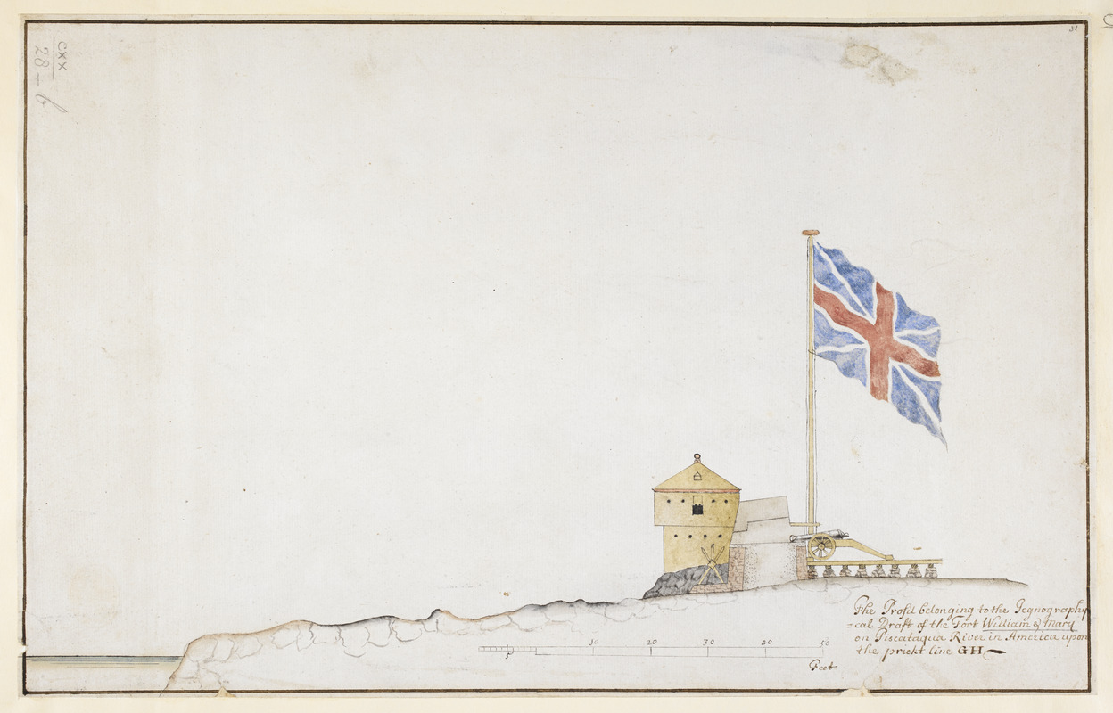 The Profil belonging to the Iconographycal Draft of the Fort William & Mary on Piscataqua River in America