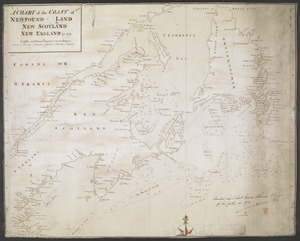 A CHART of the COAST OF NEWFOUND-LAND NEW SCOTLAND NEW ENGLAND &c. 1711