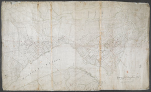 [Map showing Saint John's Harbour and a proposed fort]