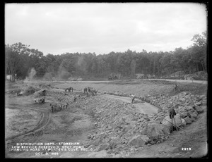 Distribution Department, Low Service Spot Pond Reservoir, changing road at Porter Cove, Section 5, from the north, Stoneham, Mass., Oct. 3, 1899