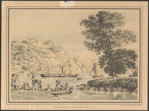 The Clermont on the Hudson River, 1810