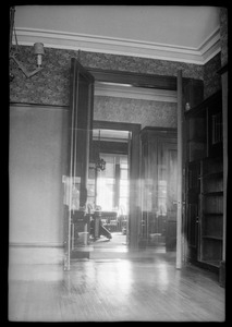 42 Highland Ave. Roxbury, Mass., first floor front, view looking into the dining room across the hallway