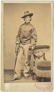 Frances L. Clalin in uniform, standing