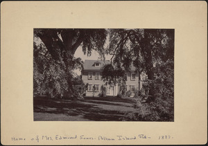 Home of Mrs. Edmund Sears, Pelham Island Road