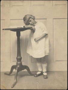 Sally Upton in her Christening dress at age of 4