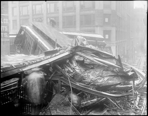 Boston Elevated wreck at Beach St. and Harrison Ave.