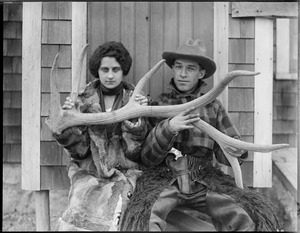 Mr. & Mrs. Percy Jones of the Elk Ranch in Middleborough