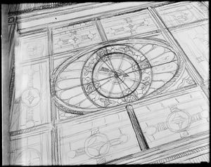 Drawing of clock/compass