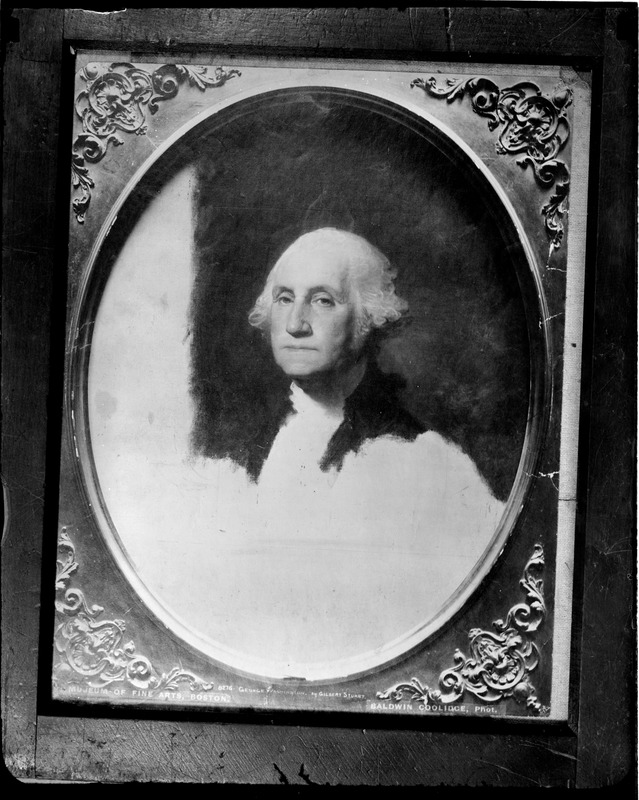 Gilbert Stuarts's unfinished portrait of George Washington at Museum of Fine Arts (from photo by Baldwin Coolidge)