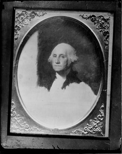 Unfinished portrait of George Washington at Museum of Fine Arts (from photo by Baldwin Coolidge)