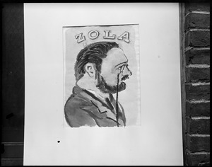 """Sketch of """"Zola"""" by Harvard student"""
