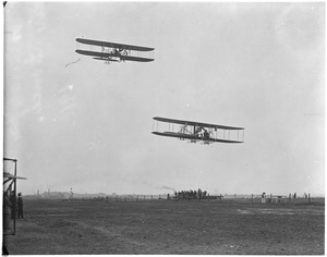 Two planes in flight at Squantum