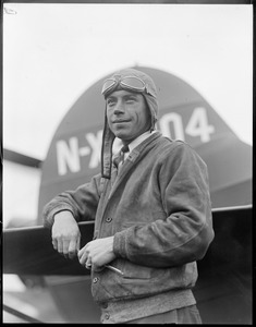 Wilmer Stultz, who piloted the plane Friendship across the ocean, with Miss Earhart aboard. Also pilot of Byrd's South Pole plane.