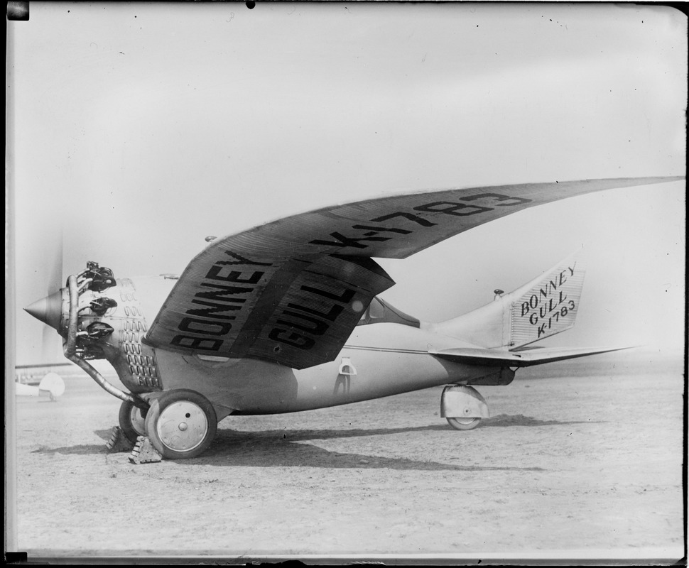 Bonney Gull before it crashed & killed its maker, Curtis Field, N.Y