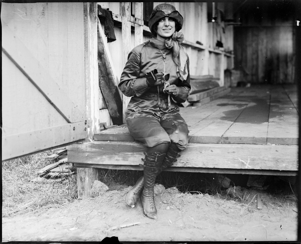 Miss Harriet Quimby, Boston girl aviator who lost her life trying to entertain the public at Squantum