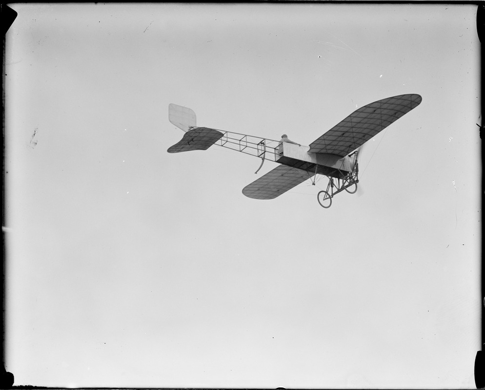 Miss Harriet Quimby up in her plane, just before the sad accident that caused her death, at Squantum