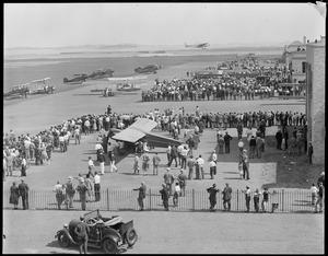 Crowd at East Boston Airport