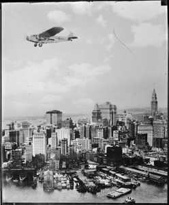 Ford trimotor over New York City