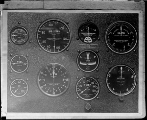 The control panel of the Spirit of St. Louis