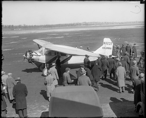Charles A. Levine--famous transatlantic plane Columbia that once flew from N.Y. to Germany, flew to Boston
